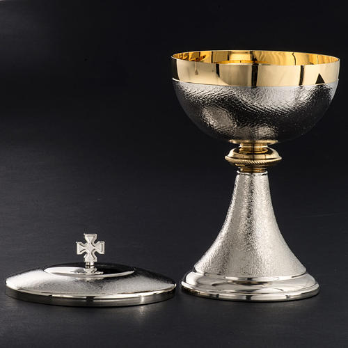 Chalice and Ciborium, silver plated brass with knurled finishing 6