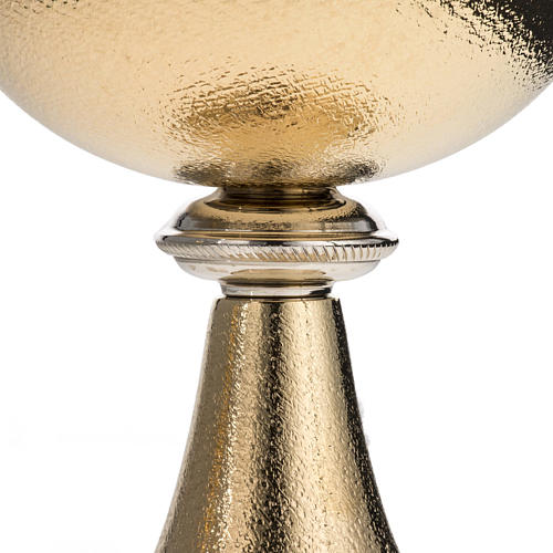 Chalice and Ciborium, golden brass with knurled finishing 5