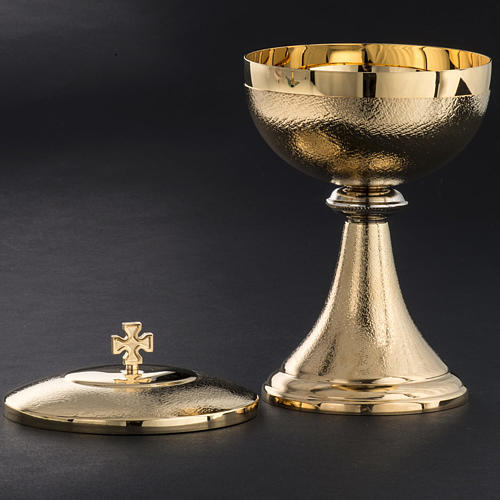 Chalice and Ciborium, golden brass with knurled finishing 6