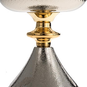 Chalice and Ciborium in silver brass, Knurled finishing s3