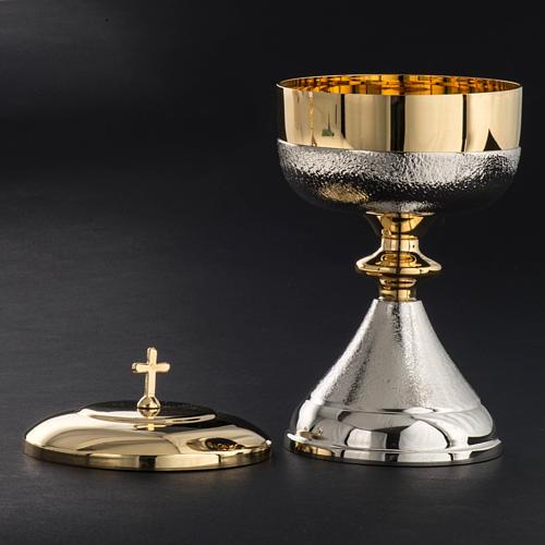 Chalice and Ciborium in silver brass, Knurled finishing 7