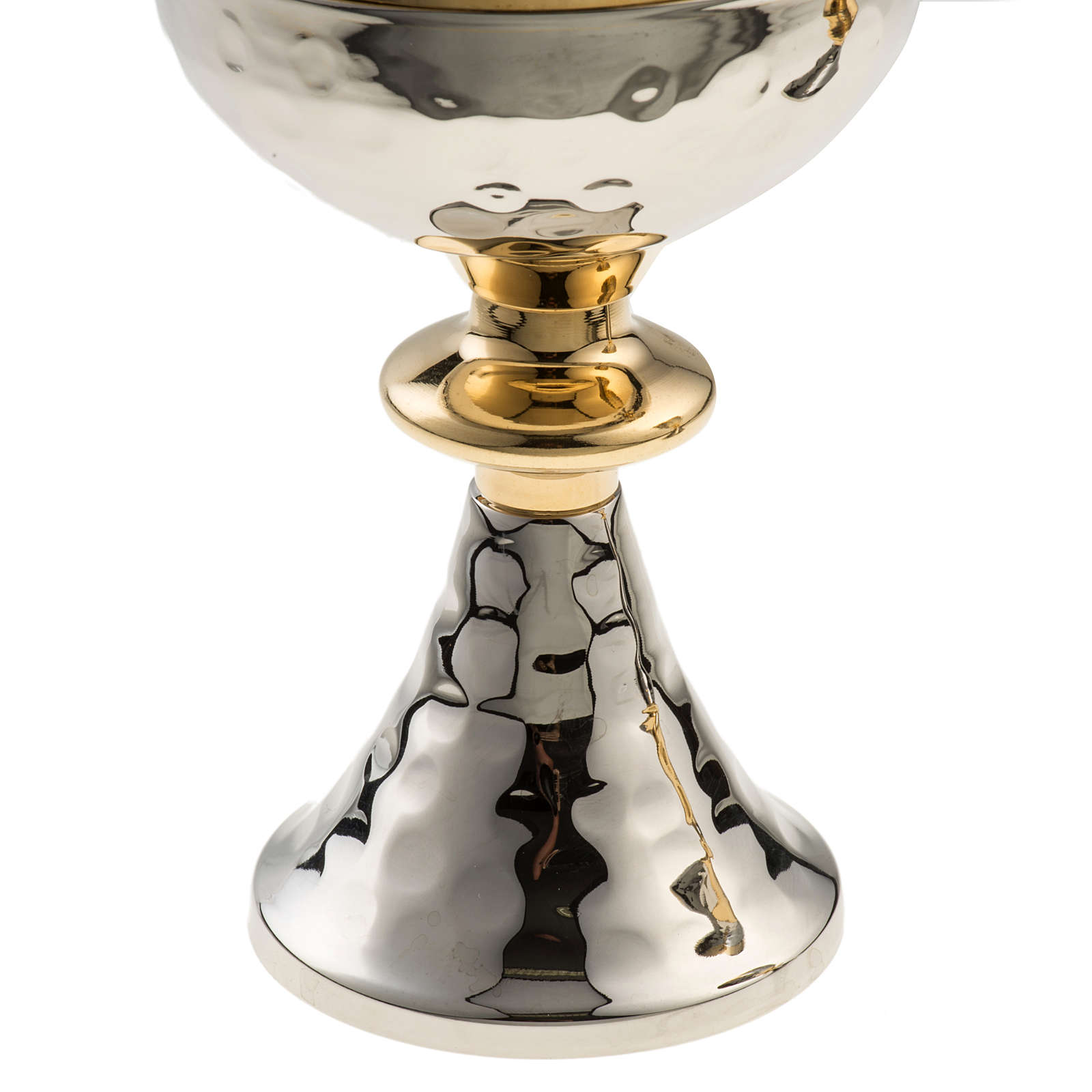 Chalice and Ciborium in silver plated brass with golden node 4