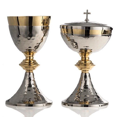 Chalice and Ciborium, hammered finishing 1