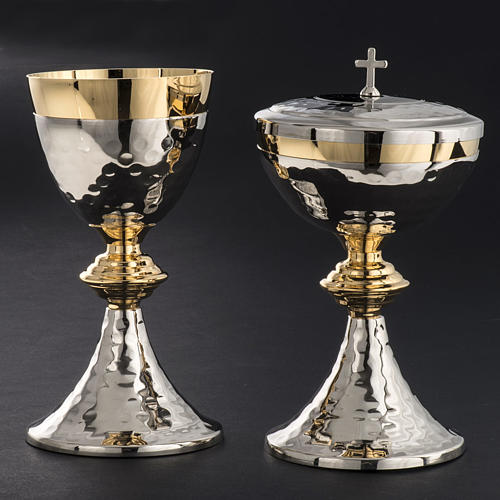 Chalice and Ciborium, hammered finishing 2