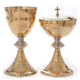Calice Pisside martellati oro e argento s1