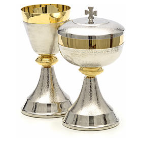 Chalice and ciborium with double two tone finish s6