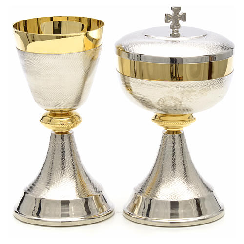 Chalice and ciborium with double two tone finish 5