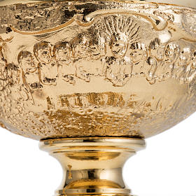 Chalice and Ciborium with golden finish, The Last Supper s9