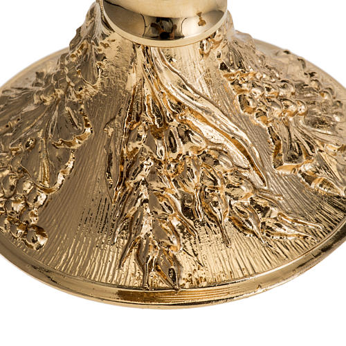 Chalice and Ciborium with golden finish, The Last Supper 4