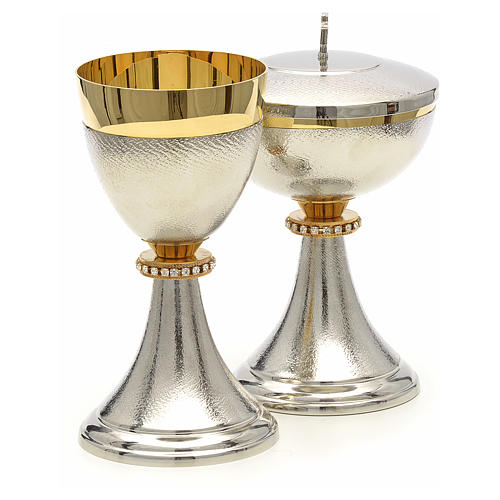 Chalice and Ciborium, knurled two tone finishing with strass 4