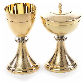 Chalice and Ciborium, knurled finishing with strass s1