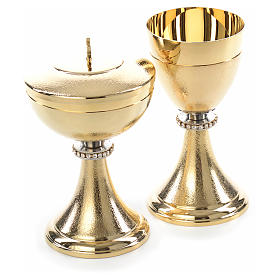 Chalice and Ciborium, knurled finishing with strass s7