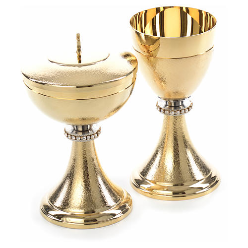 Chalice and Ciborium, knurled finishing with strass 7