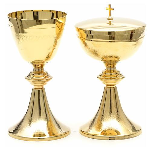 Kielich i puszka klasyczne złocone moletowane 5