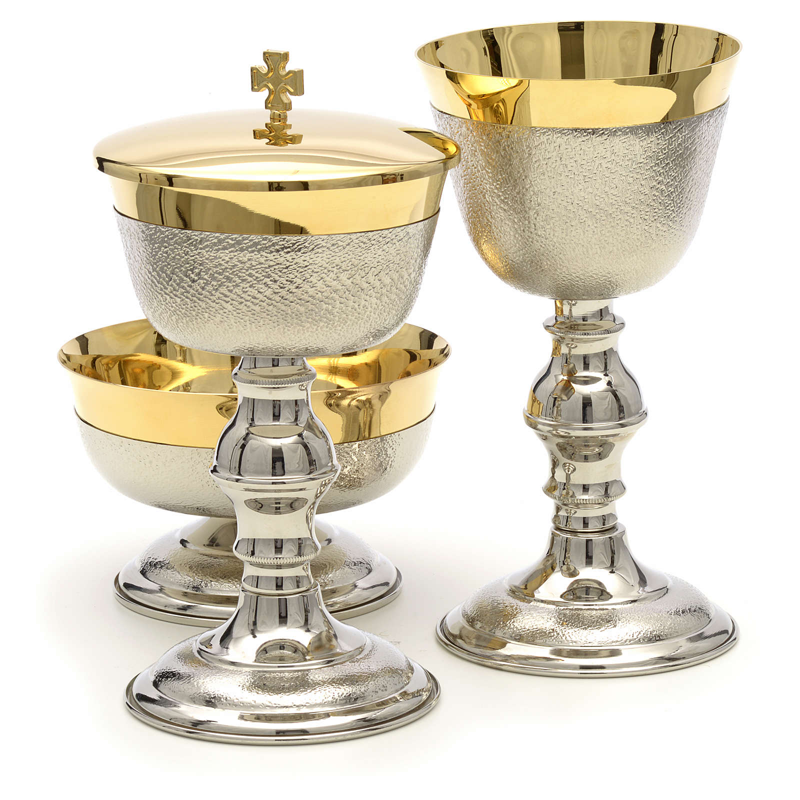 Chalice, ciborium and bowl with knurled finish 4