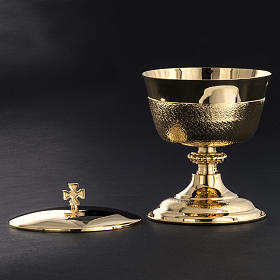 Chalice and Ciborium with golden knurled finishing s5