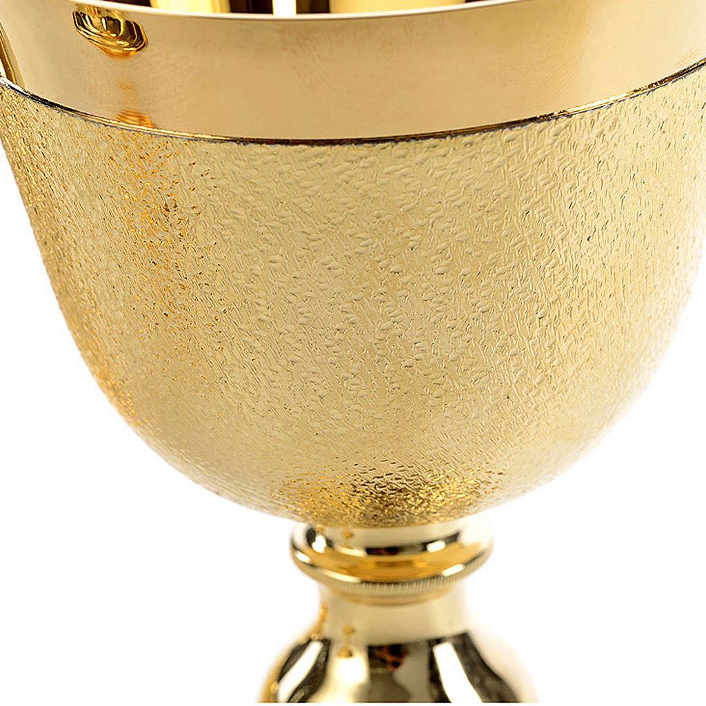 Kielich puszka i miseczka wnętrze czary złocone moletowane 4