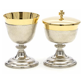 Chalice and Ciborium in brass, two colors finishing s1