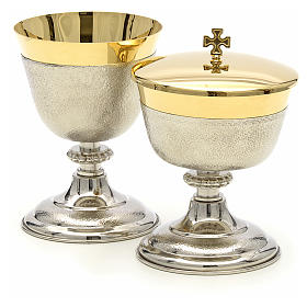 Chalice and Ciborium in brass, two colors finishing s2