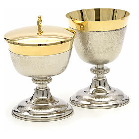 Chalice and Ciborium in brass, two colors finishing s3