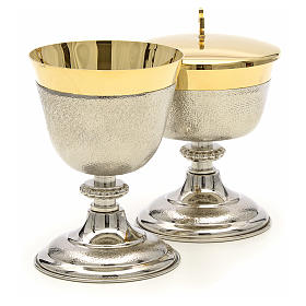 Chalice and Ciborium in brass, two colors finishing s4