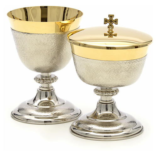 Chalice and Ciborium in brass, two colors finishing 6