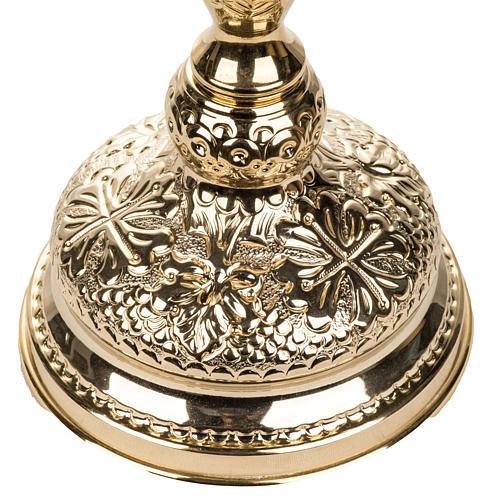Kielich mosiądz złocony dekoracje 2