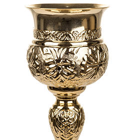 Decorated Chalice made of golden brass s3