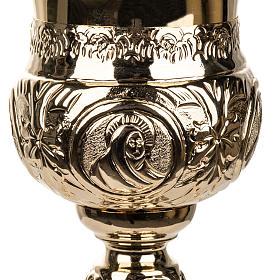 Calice 4 évangélistes laiton doré s5