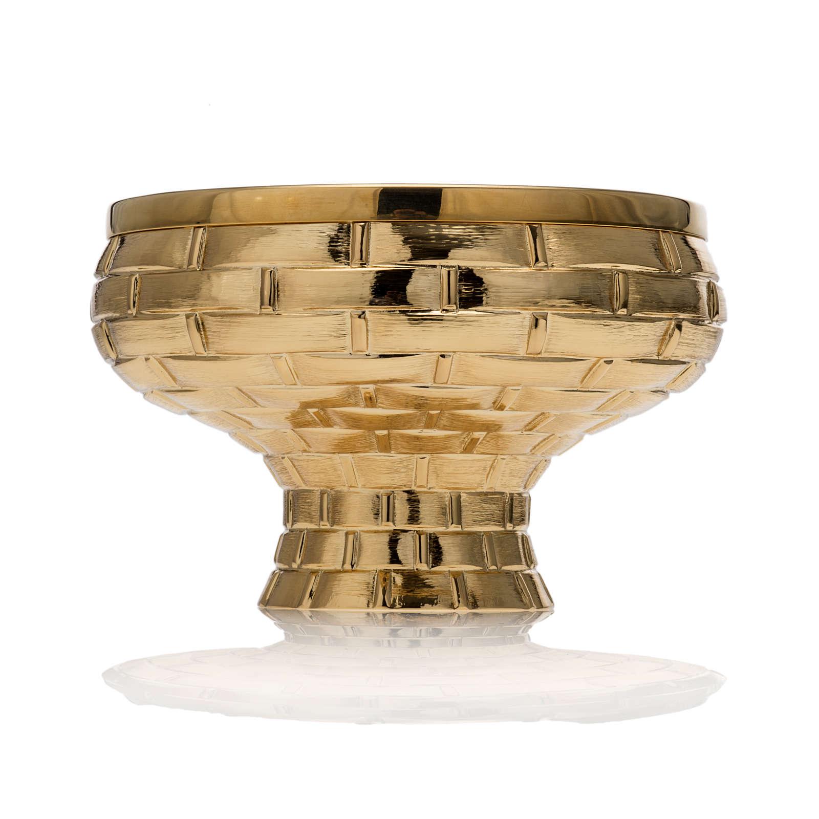 Calice pisside patena Molina ottone dorato 4