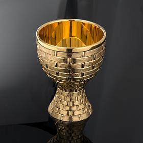 Calice pisside patena Molina ottone dorato s6