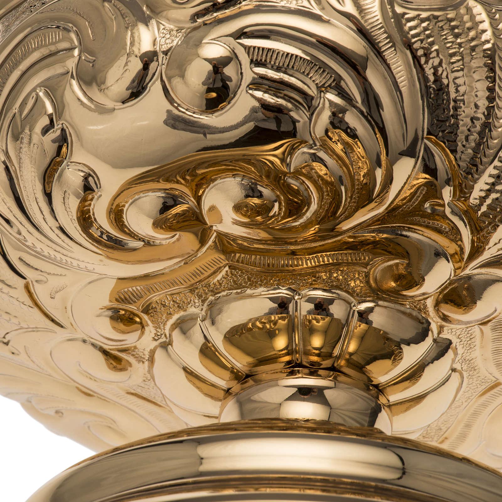 Patena Molina ottone dorato decori 4