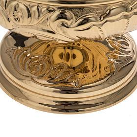 Patena Molina ottone dorato decori s2