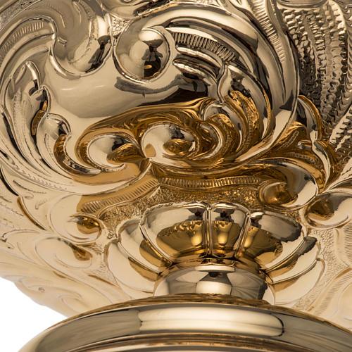 Patena Molina ottone dorato decori 7