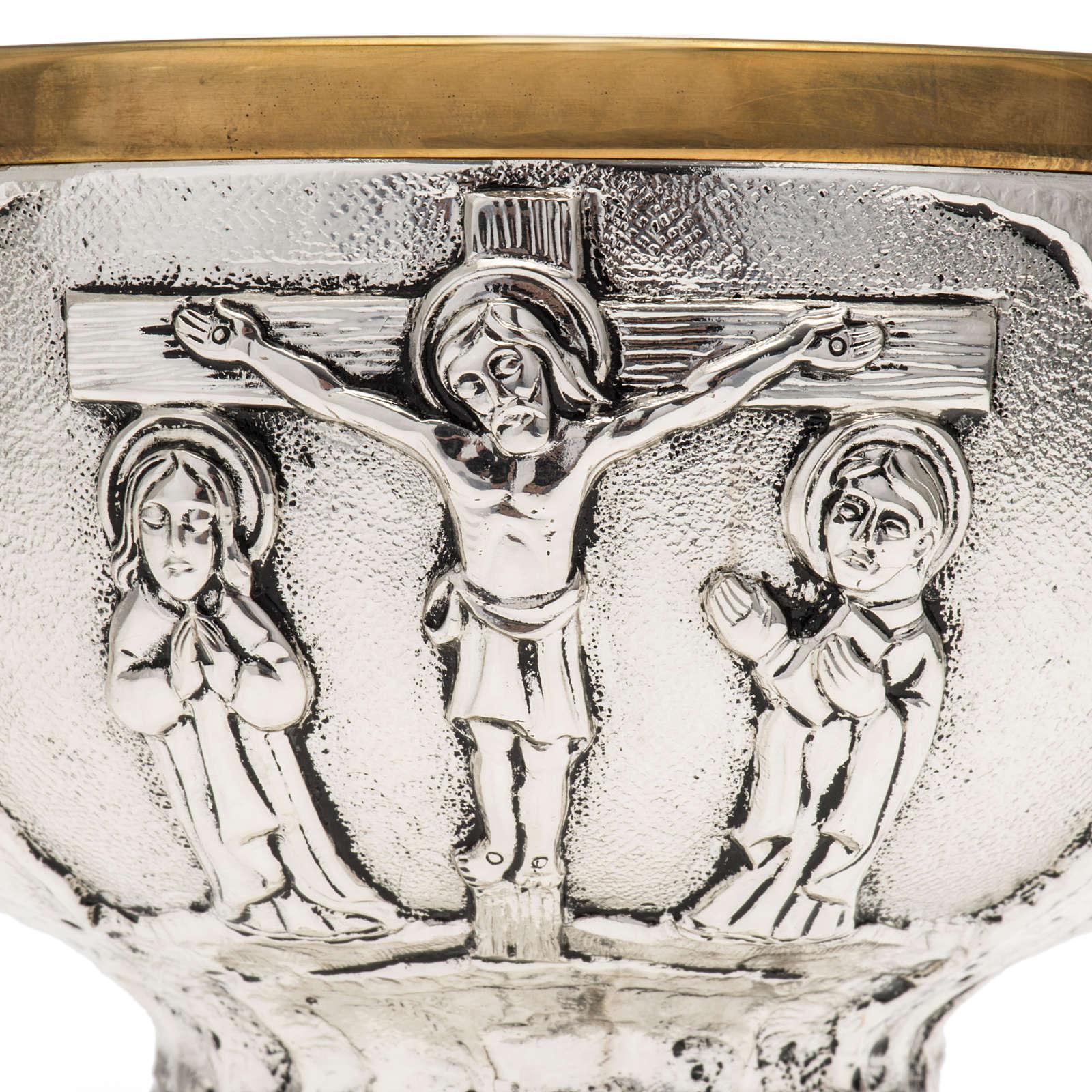 Paten Molina in brass, Crucifixion 4