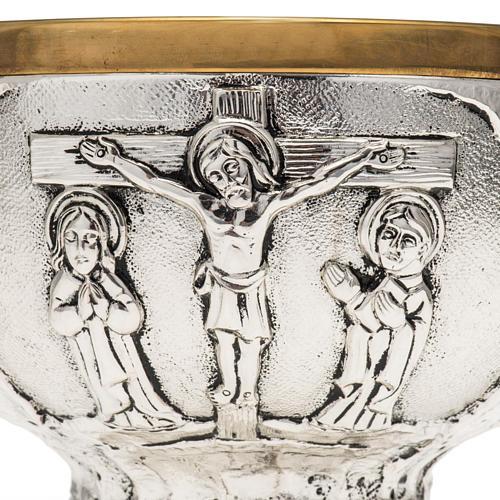 Patena Molina ottone Crocifissione 2