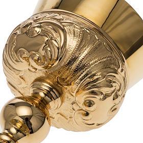 Calice Molina ottone dorato Gesù Giuseppe Maria s10