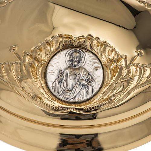 Calice Molina ottone dorato Gesù Giuseppe Maria 2