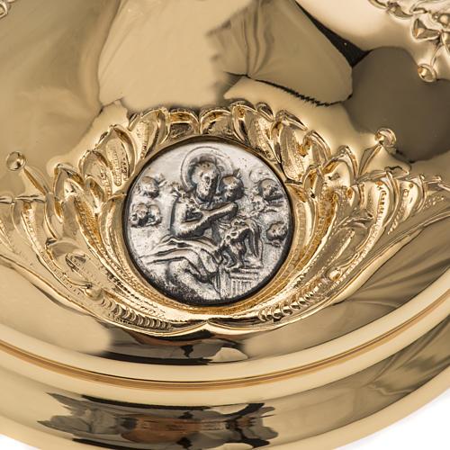 Calice Molina ottone dorato Gesù Giuseppe Maria 3