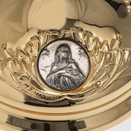 Calice Molina ottone dorato Gesù Giuseppe Maria 4