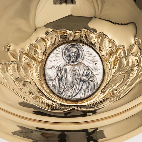 Calice Molina ottone dorato Gesù Giuseppe Maria 5