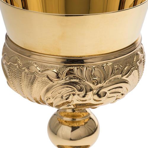 Calice Molina ottone dorato Gesù Giuseppe Maria 6