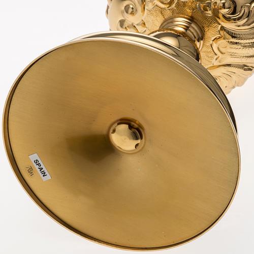 Calice Molina ottone dorato Gesù Giuseppe Maria 11