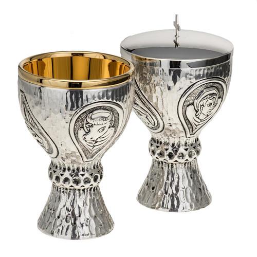 Calice pisside Molina ottone 4 evangelisti 1