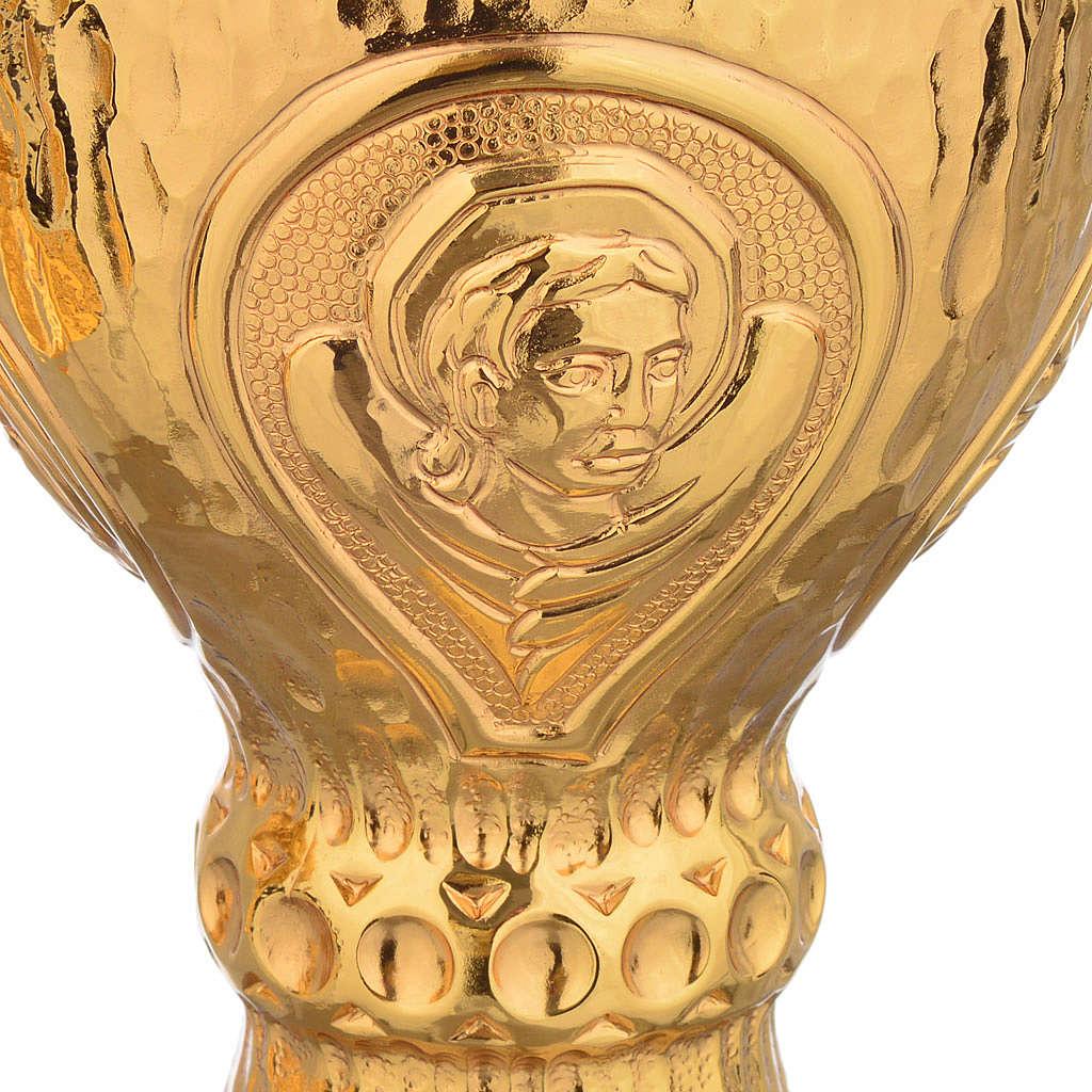 Calice e Pisside Molina ottone martellato 4 evangelisti 4