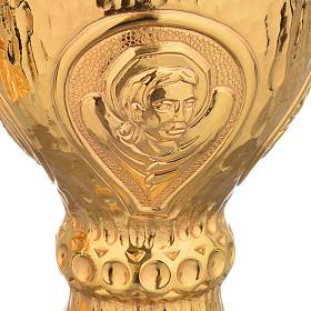 Calice e Pisside Molina ottone martellato 4 evangelisti s7
