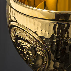 Chalice et ciboire Molina in brass hammered finishing, 4 Evangel s8