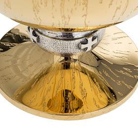 Patena Molina ottone dorato incisioni s2