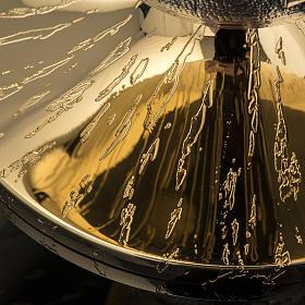 Patena Molina ottone dorato incisioni s5