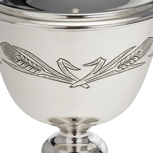 Ciborium Molina in silvered brass, Ears of wet and Grapes 3